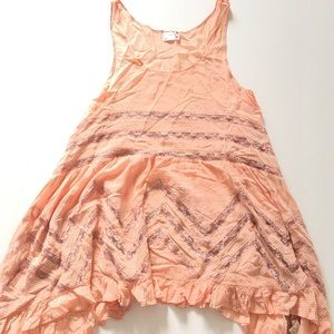 Intimately FREE PEOPLE  Tiered Lace Tank Size S